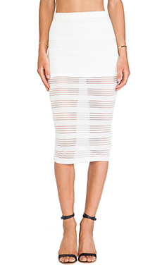 DeLacy Dakota Skirt in White