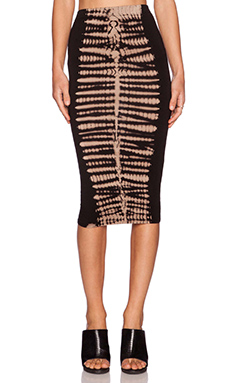 De Lacy Dakota Pencil Skirt in Black Dye