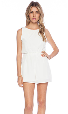 De Lacy Storm Romper in White