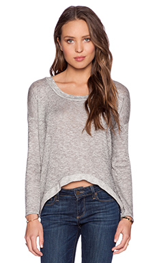 De Lacy Anne Top in Heather Grey
