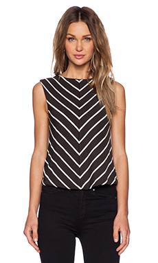 De Lacy Chloe Top in Black & White