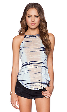 De Lacy Alissa Tank in Blue Tie Dye