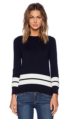 DemyLee Ali Sweater in Navy & White