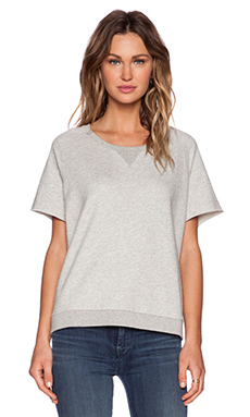 DemyLee Salma Knit Tee in Heather Grey