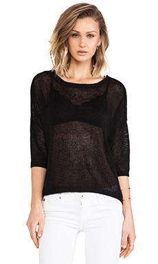 DemyLee x REVOLVE Alexa Short Sleeve Sweater in Black