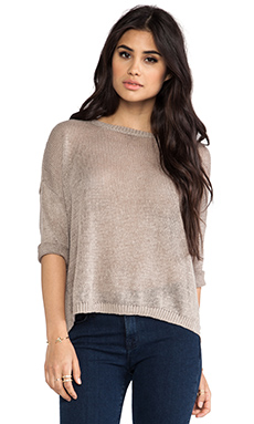 DemyLee x REVOLVE Alexa Short Sleeve Sweater in Cement