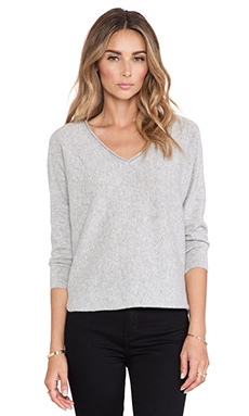 DemyLee Cashmere Piper Sweater in Light Heather Grey