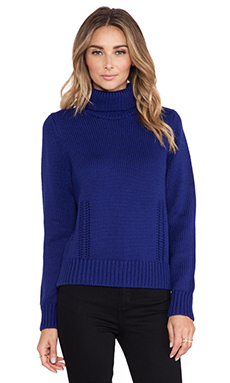 DemyLee Lena Turtleneck Sweater in Midnight Blue