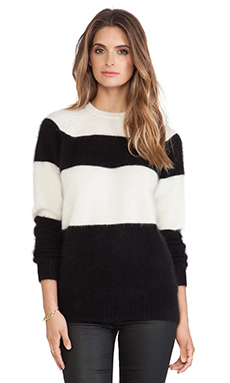 DemyLee Alex Sweater in White/Black