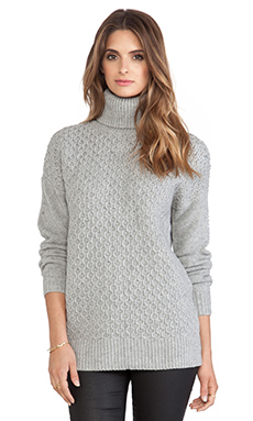 DemyLee Ruth Turtleneck Sweater in Light Heather Grey