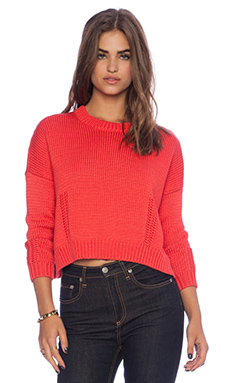DemyLee Giselle Sweater in Coral