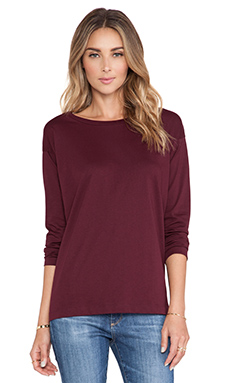 DemyLee Sawyer Long Sleeve Tee in Burgundy