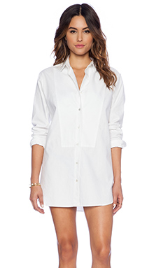 DemyLee Celia Button Up Top in White