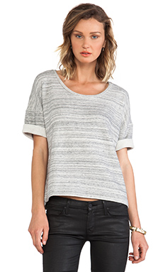 DemyLee Jean Top in Heather Grey