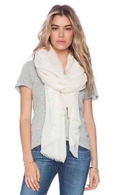 DemyLee Cashmere Tissue Scarf in White