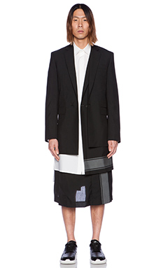 D. Gnak Reflected Layered Coat in Black