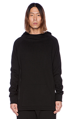 D. Gnak Side Zipped Hoodie in Black