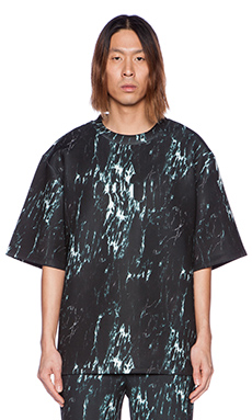 D. Gnak D by D Marble Tee in Black