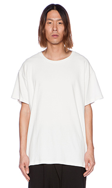 D. Gnak Back Reflected Tee in Ivory