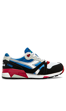 Diadora N9000 NYL in French Blue White