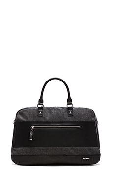 Diesel Blockin' Denim Blockn' Duffel Bag in Black