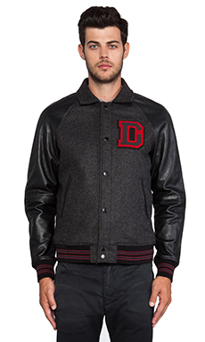 Diesel Dayan Varisty Jacket in Black