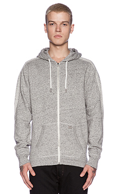 Diesel Erte Zip Hoody in Felt Grey