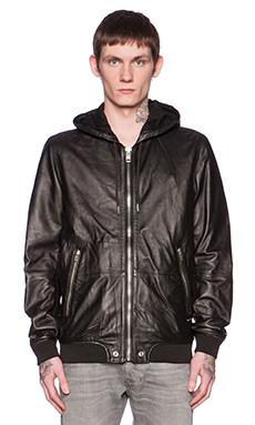 Diesel Akura Leather Hood in Black
