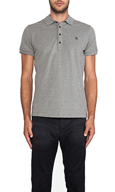 Diesel Alfred Polo in Ash Grey