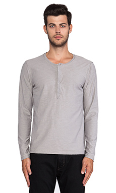 Diesel Canope Long Sleeve Tee in Lt Grey