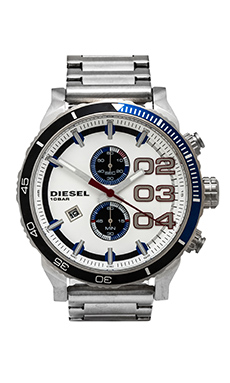 Diesel Franchise 2.0 DZ4313 48mm in Stainless Steel