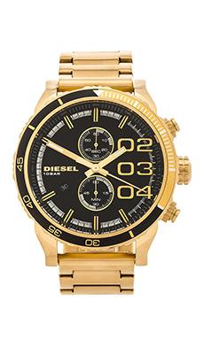 Diesel Double Down 46mm in Black & Gold