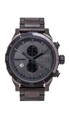 Diesel Double Down 48mm in Gunmetal IP