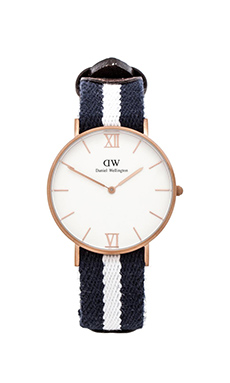 Daniel Wellington Grace Collection Glasgow in Sandblasted Rose Gold