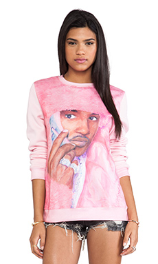 Dimepiece Real Men Wear Pink Sweatshirt in Multi