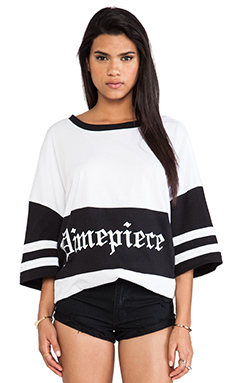 Dimepiece Over-sized Tee in Black