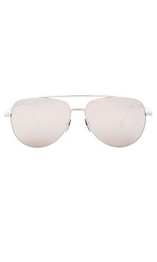 Dita Flight Sunglasses in Silver & Silver Mirror Lenses