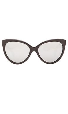 Dita Eclipse Sunglasses in Black & Silver Mirror Lenses