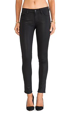 DL1961 Florence Coated Mid Rise Skinny in Boston