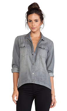 DL1961 Frankie Button Down Denim Shirt in Valetta