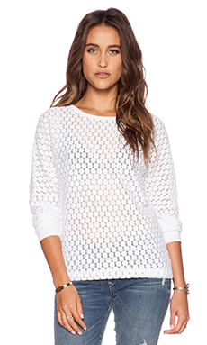 David Lerner Lace Pullover in White