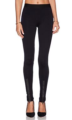 David Lerner Hudson Zipper Front Legging in Classic Black