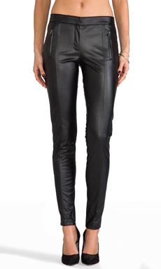 David Lerner The Monroe Pant Vegan Leather in Black