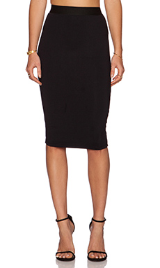 David Lerner Midi Pencil Skirt in Classic Black