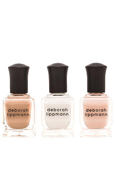 Deborah Lippmann Classic Bride Nail Lacquer Set in Amazing Grace & Baby Love & Naked