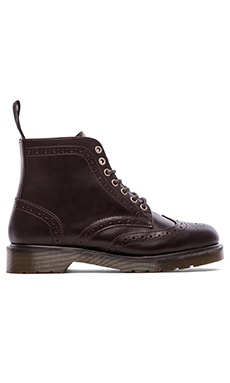 Dr. Martens Affleck Brogue Boot in Dark Brown