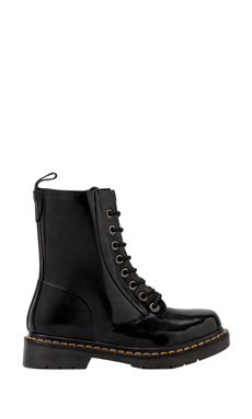 Dr. Martens Drench 8-Eye Rain Boot in Black Patent