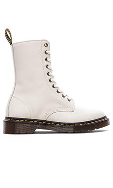 Dr. Martens Alix 10-Eye Zip Boot in Off White