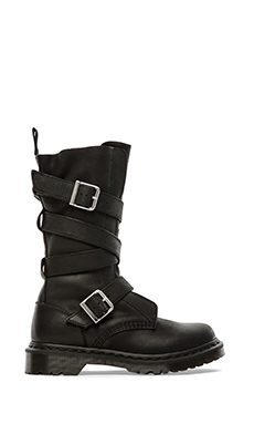 Dr. Martens Lauren Calf Strap Boot in Black