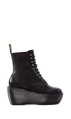 Dr. Martens Jamila 10-Tie Ski Hook Boot in Black
